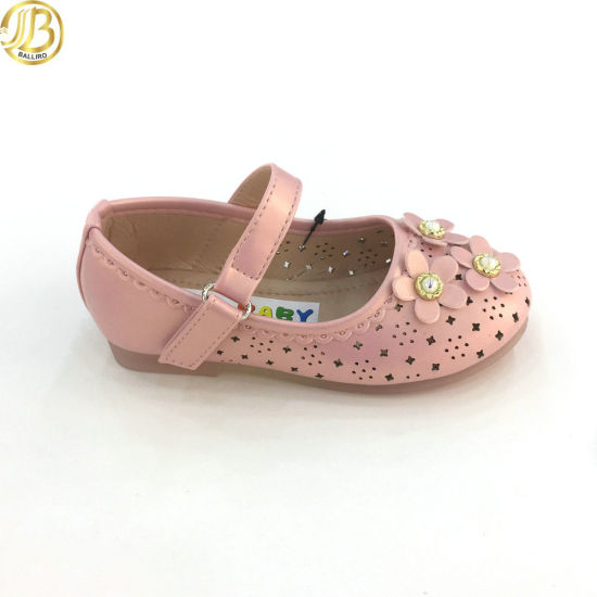 Made in China Baby Girl Cheap Flower Kids Leather Shoes Children pictures & photos