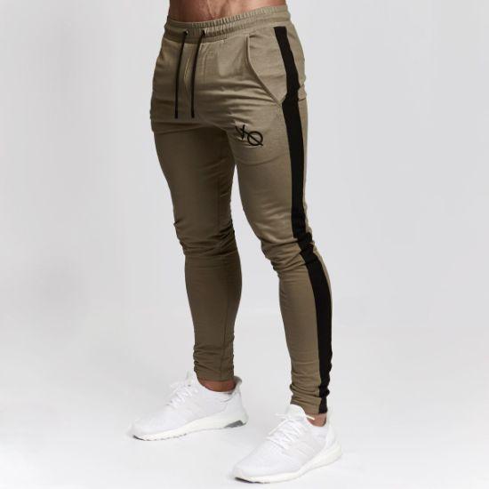 Wholesale Custom Your Design Cotton Zipper Pocket Joggers Sweatpants Men Gym Track Pants