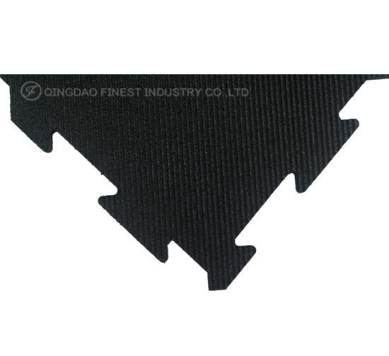 High Density Interlocking Gym Rubber Flooring Jigsaw Rubber Mat for Crossfit