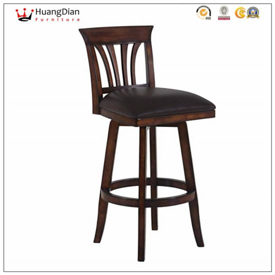 Chinese Wholesale Furniture Factory Custom Leather Restaurant Bar Stool pictures & photos