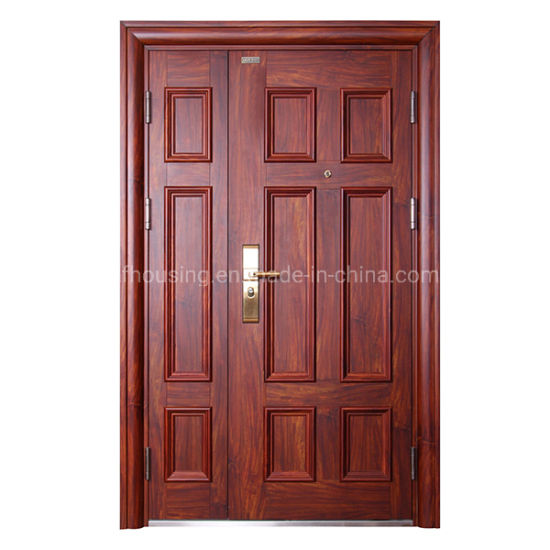 China Manufacture Entrance Steel Security Door for Villa Zf -Ds-003