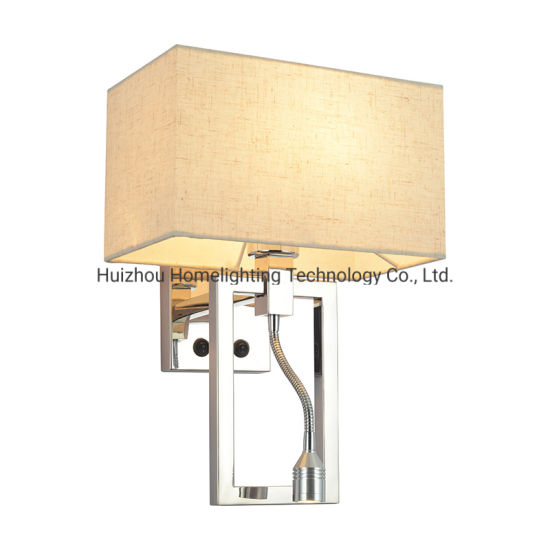 Jlw-H006 Hotel Dual Rocker Switch Wall Mounted Lamp with Reading Light