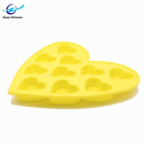 Wholesale Silicone Baking Chocolate Mold Heart Ice Cube Tray