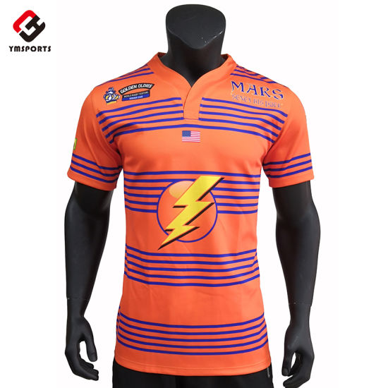 Custom 100% Polyester Rugby Jersey Shirt Wear