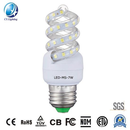 Better Price LED Lighting Mini Spiral Energy Saving Lamp 7W 630lm with Ce