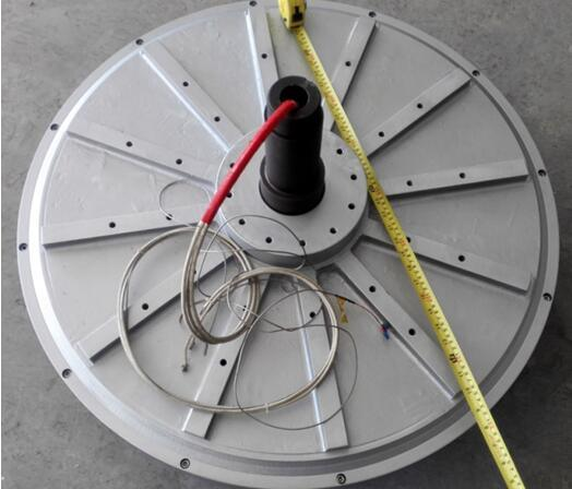 30kw 300rpm Small Size Thin Disc Corless Pancake Generator for Wind Turine Hydro Turbine