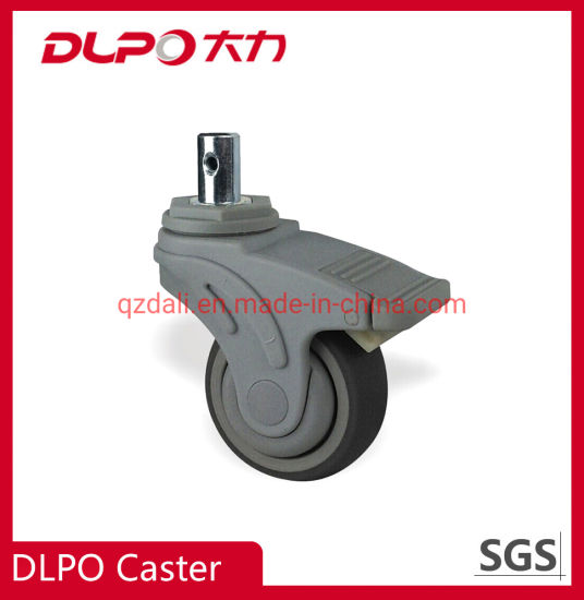 Hospital Bed Elastic Wear Resistance TPR Wheel Caster for Oxygen Machine