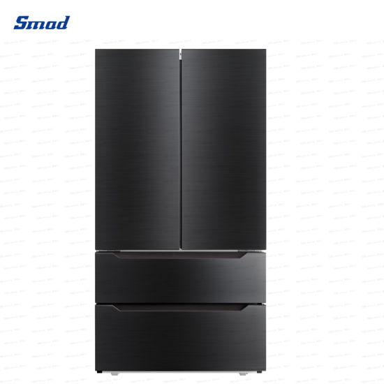 22.5 Cuft Home Appliance Stainless Steel French Door Refrigerator with Ice Maker