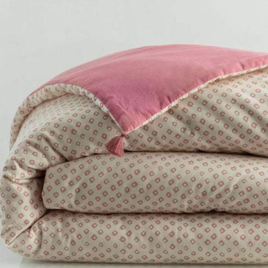 Luxury 100% Cotton Printed Quilts with Tassels Duvets Comforters