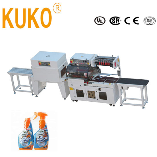 Automatic L Bar Sealer Sealing Pack Packaging Packing Shrink Shrinkable Wrap Wrapper Wrapping Machine for Food Box Carton Beverage Card Board Bottles