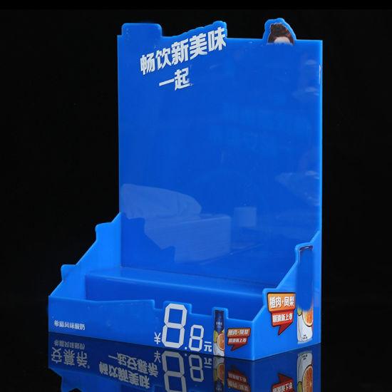 Custom Promotional Beverage Acrylic Display Rack for Supermarket