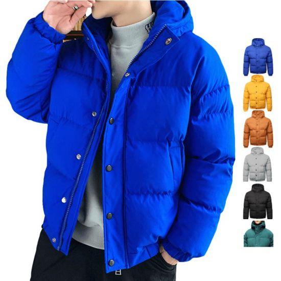 Stylish Custom Design Hooded Puffer Bubble Coat Mens Jacket