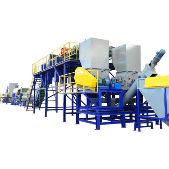 Automatic PP PE Pet Waste Plastic Bottle Film Woven-Bag Raffia Jumbo Bag Washing Cleaning Equipment Pelletizing /Grinder/Shredder Recycling Washing Machine Line