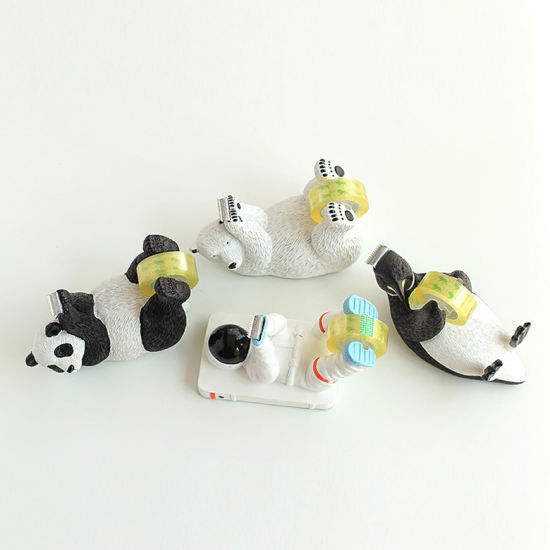 Lovely Resin Tape Dispenser Roll Holder Stationery Desk Organizer School Office Supplies Cute Animal Decor Aquatic Figurine