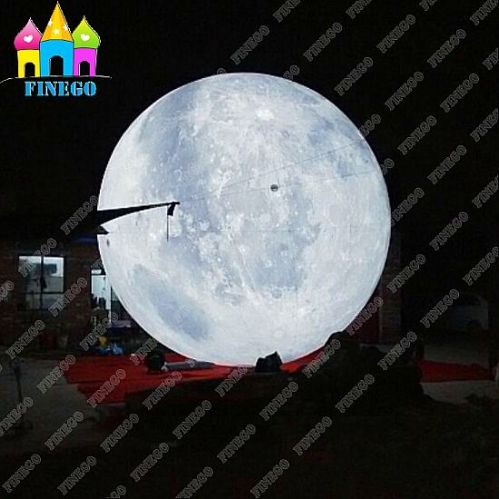 Finego Giant Air Lighting Moon Balloon Ball Inflatable LED Mars for Park Decoration pictures & photos