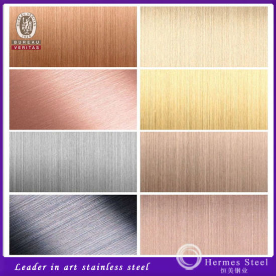 304 Color Coated Stainless Steel Hairline Finish for Wall Panels pictures & photos