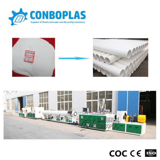 Plastic Twin Double Screw Extruder Electrical Conduit Water Supply Drainage Sewer UPVC CPVC PVC Hose Tube Pipe Recycling Production Extrusion Making Machine