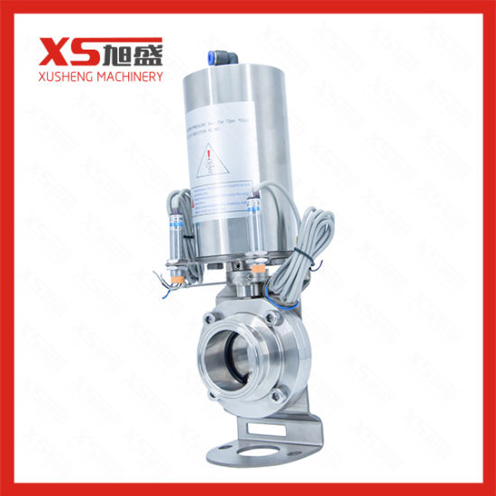 Stainless Steel Sanitary Air Actuated Butterfly Valves