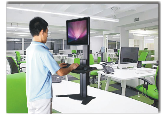 "Desktop & Wallmount Workstation Dual Monitor 10-24"" Height Adjustment (DW 002A) pictures & photos"