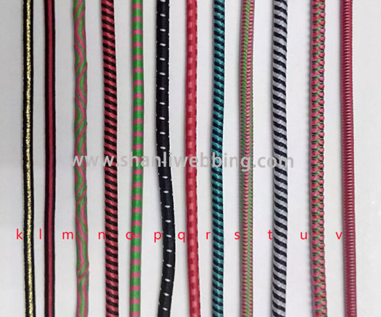 Mixed Color Bungee Cord, Striped Elastic Rope, Round Elastic Cord