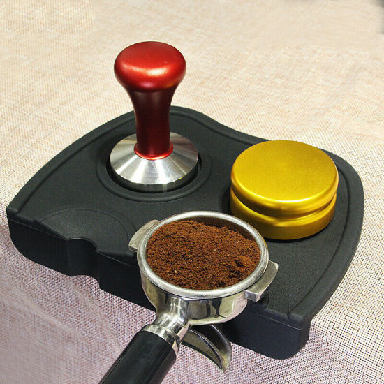 Silicone/Rubber Coffee Grind Espresso Tamping Tamper Mat with Corner Edge