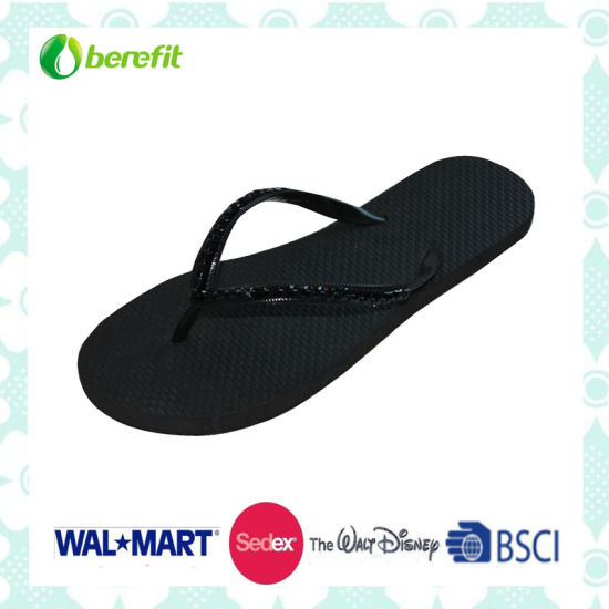 PE Sole and PVC Upper and Beed Decoration, Slippers