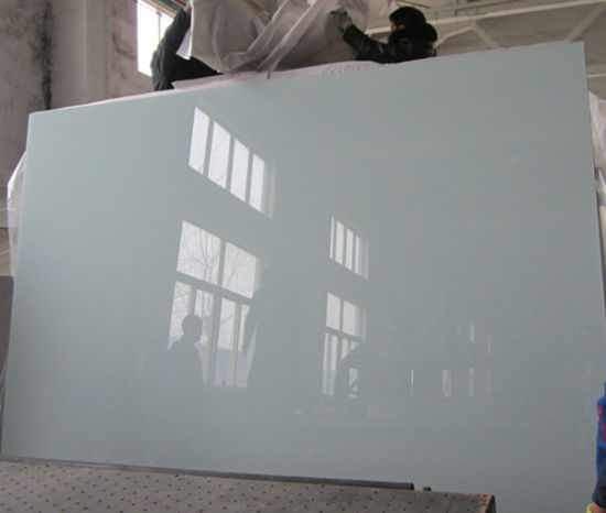 China Sinoy Pure White Back Painted Glass For Home