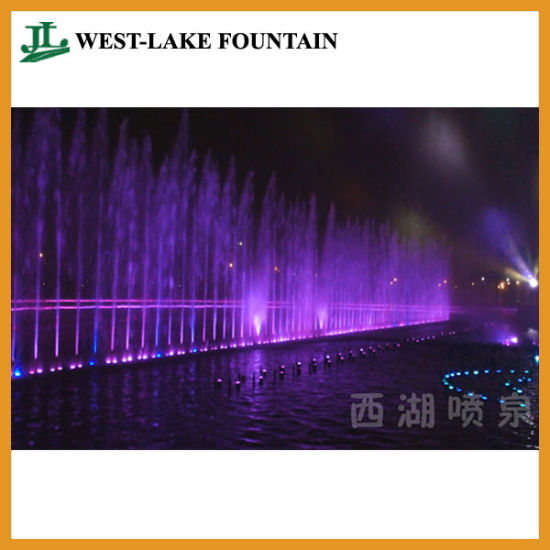 Artificial Lake Music Fountain with Colorful LED Lighting pictures & photos