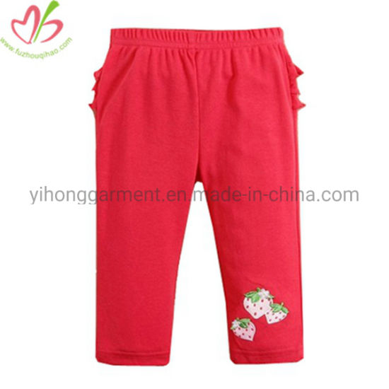 Knitted Formal Girl's Slack Pencil Trousers with Three Layers