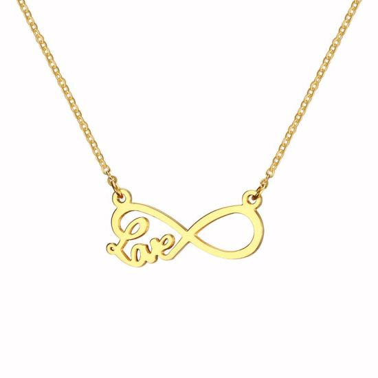 8 Shape Love Pendant Special Gold Necklace for Lady