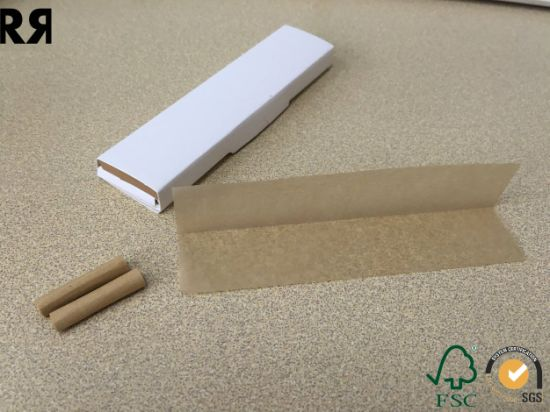 Customized Unbleached Brown Cigarette Smoking Rolling Hemp Paper pictures & photos
