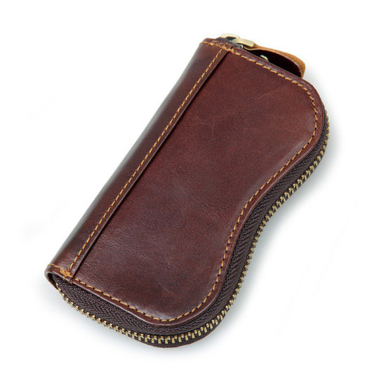 Factory Price Mens Leather Key Holder Wallet with Cion Pocket pictures & photos