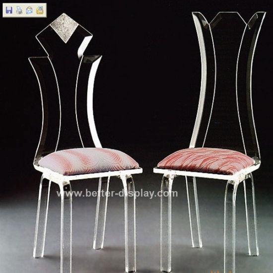 Polished Modern Transparent Acrylic Chair for Wedding (BTR-Q3011) as