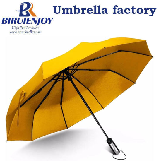 "23"" Travel Small Umbrella 10 Ribs Automatic One-Handed Operation Sun/Rain Folding Umbrella"