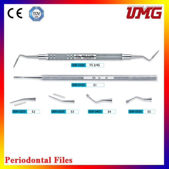 China Stainless Steel Dental Periodontal Files for Sale