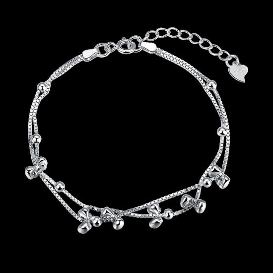 925 Sterling Steel with Several Bowknot Bracelet Pole Chain Charm Gracile Bracelet pictures & photos