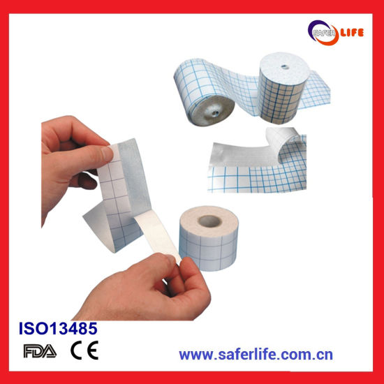Non Woven Adhesive Dressing Fixation Fabric Tape Fixing Dressing Products
