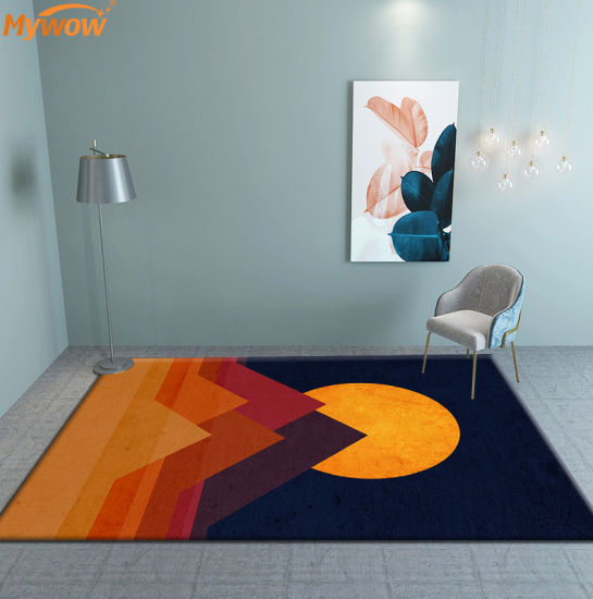 Non-Slip Soft Floor Rugs Living Room Modern Custom Floor Rug for Sale