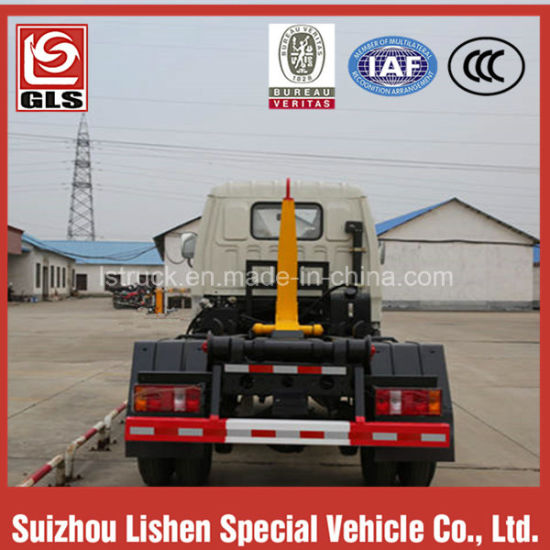 8000L Diesel Engine Hook Arm Garbage Truck pictures & photos