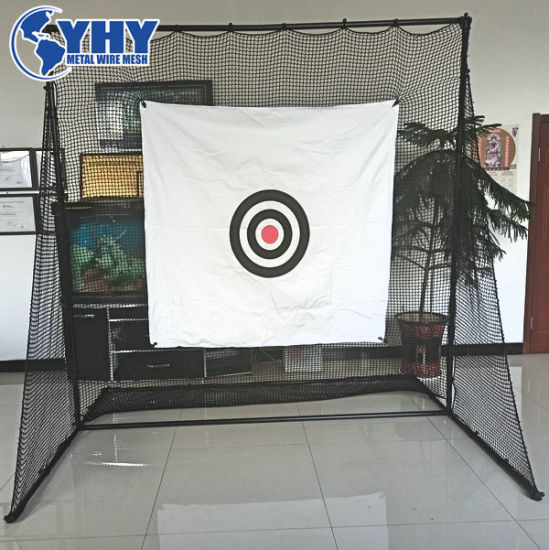 Indoor and Outdoor Professional 2.4m*2.4m*1m UV Treated Golf Practice Cage with Steel Frame, Netting