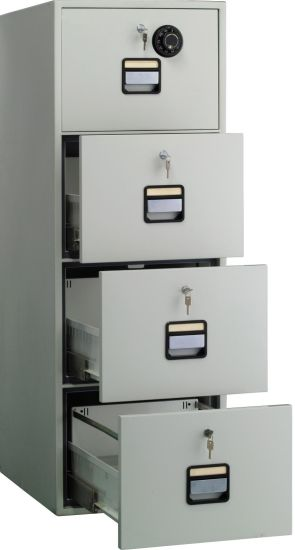 4 Drawer Office File Cabinet With Fire Resistant And Antimagneticfunction  And Auto Lock (NLK FC 002)