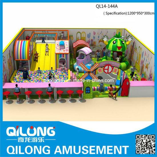 Qilong Kids Indoor Playground Park Jungle Bear Theme Playground (QL14-144A)
