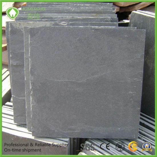 Natural Black Slate for Floor Tile pictures & photos