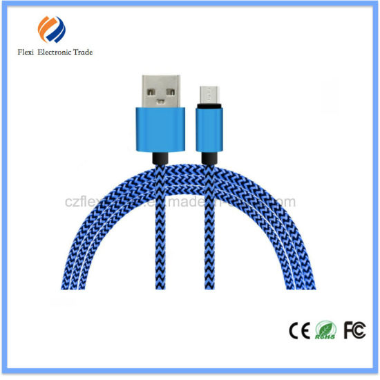 Micro USB V8 Micro Braided USB Cable for Cellphone with Micro Port