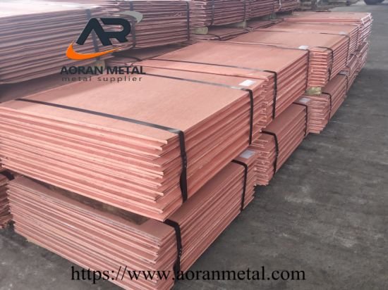 Hot Sale China Metal Material Supplier Electrolytic Copper Cathode
