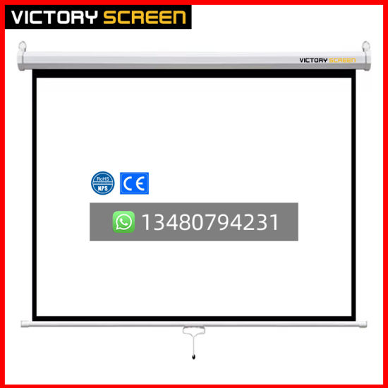Victoryscreen Manufacturer Wholesale Customized Cheap Price 100 Inch 4: 3 Manual Wall/Ceiling Mounted Projector Screen