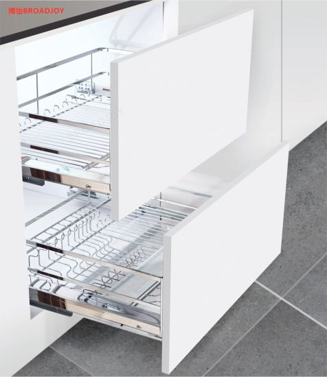 Kitchen Accessories Stainless Steel Kitchen Cabinet Storage Base Units Stove Pull Out Basket China Pull Out Baskets And Stove Basket Price Made In China Com