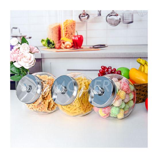 Factory Glass Candy Jars Wholesale Sale Glass Jars Domestic Tea Glass Jars High-Grade Gift Tea Set