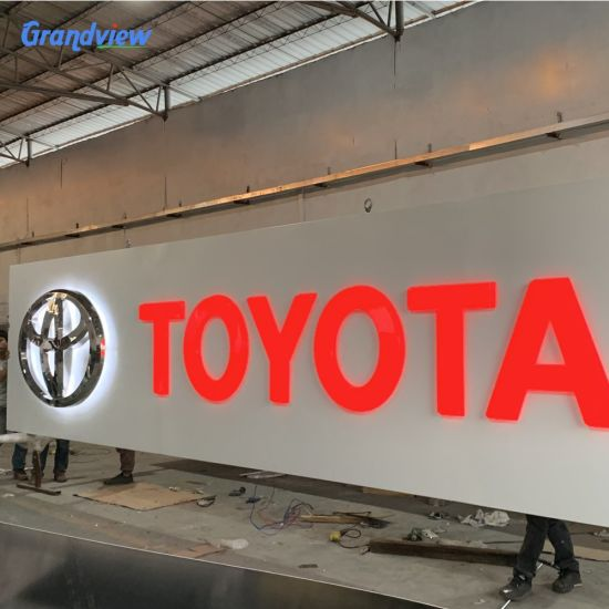Outdoor Toyota Advertising LED Resin Letters Signs Signage Letters and Shop Name Board Signage
