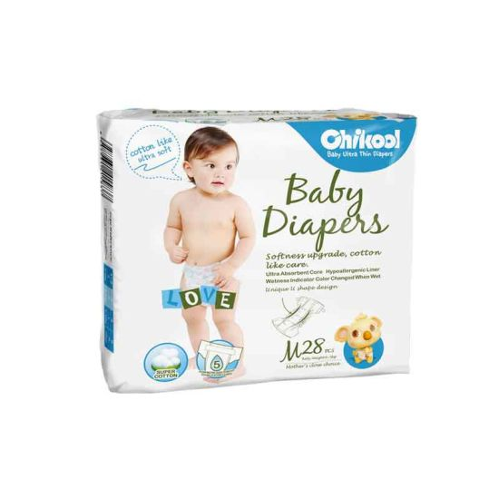 Disposable Breathable OEM Brand Ultra Thin Baby Diaper for Girl/Boy